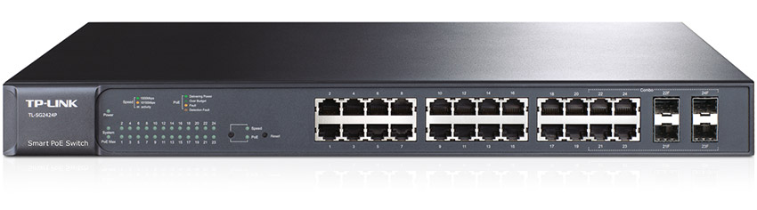 TP-Link 24-Port Gigabit Smart PoE+ Switch with 4 Combo SFP Slots