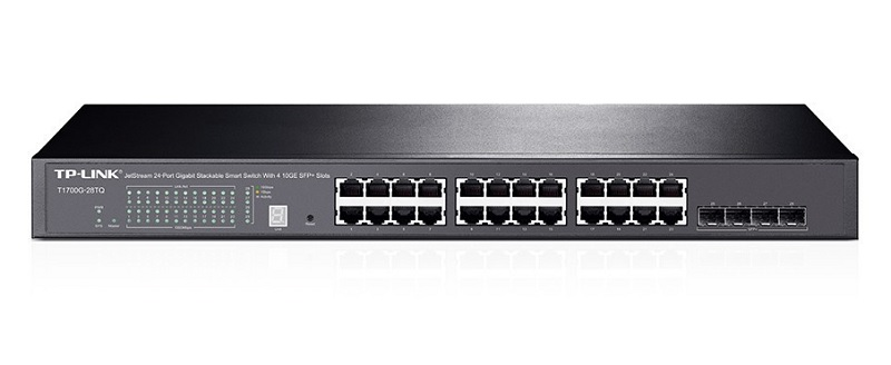 TP-Link T1700G-28TQ JetStream 24 Port Gigabit Stackable Smart Switch with 4 10GbE SFP + Slots