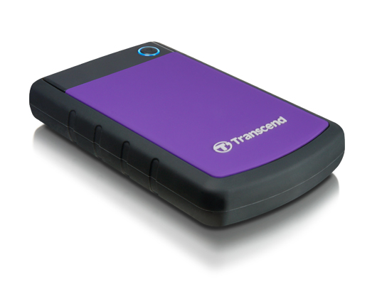 Transcend StoreJet 25H3 1TB 2.5 Inch USB 3.0 Extra Rugged External Hard Drive + FREE Hard Drive Pouch!