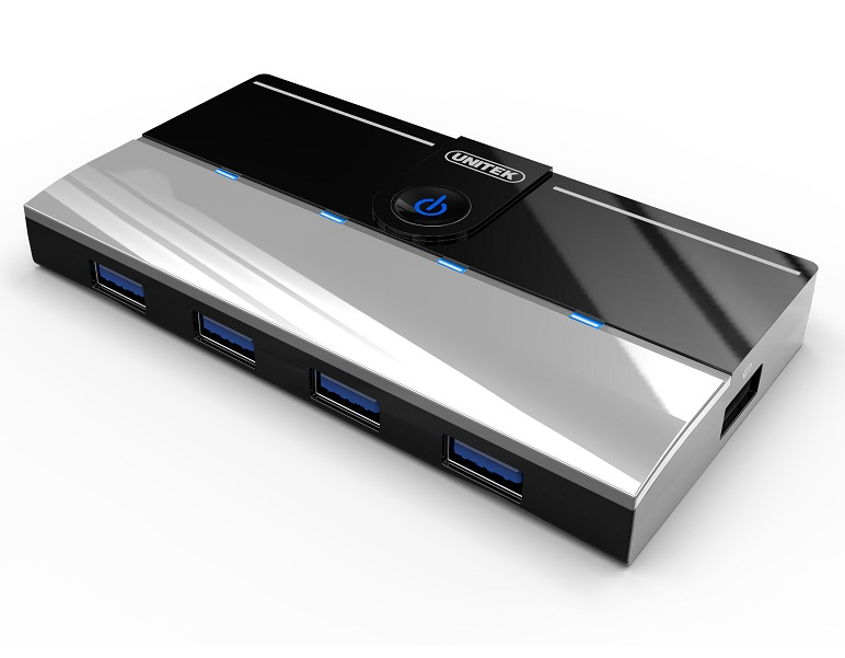 Unitek 4 Port USB 3 Hub + 1 Port 2.1A Charging