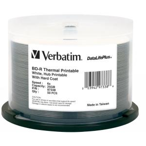 Verbatim DataLifePlus Blu-Ray Recordable Media BD-R 25GB 6x - 50 Pack