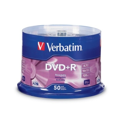 Verbatim DVD+R 1x-16x 4.7GB Spindle - 50 Pack