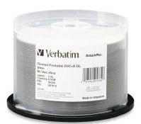 Verbatim DVD+R DL White Thermal DVD 50 Pack