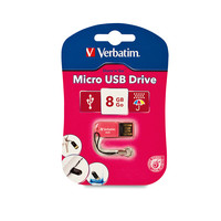 Verbatim Store and Go Micro USB Drive 8GB - Pink