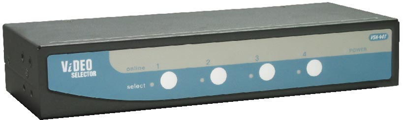REXTRON 4 Port VGA Video Selector 4 VGA Input 2 VGA Output