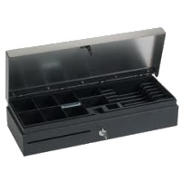 VPOS Cash Drawer FlipTop 6 Note & 8 Coin 24V - Black