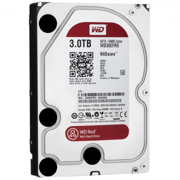 Western Digital Red 3TB 5400rpm 64MB Cache 3.5 Inch SATA3 NAS Hard Drive