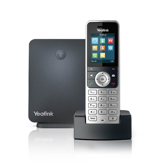 Yealink SIP-W53P Business HD PoE Gigabit Wireless DECT VOIP Phone - Cordless Handset + Base Unit
